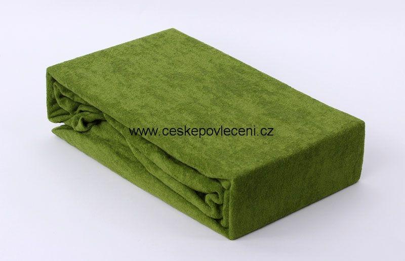 Froté prostěradlo olivové 180x200x15 abd26cb6657